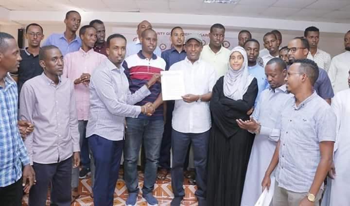 Garissa County youth present views on BBI to Governor Korane