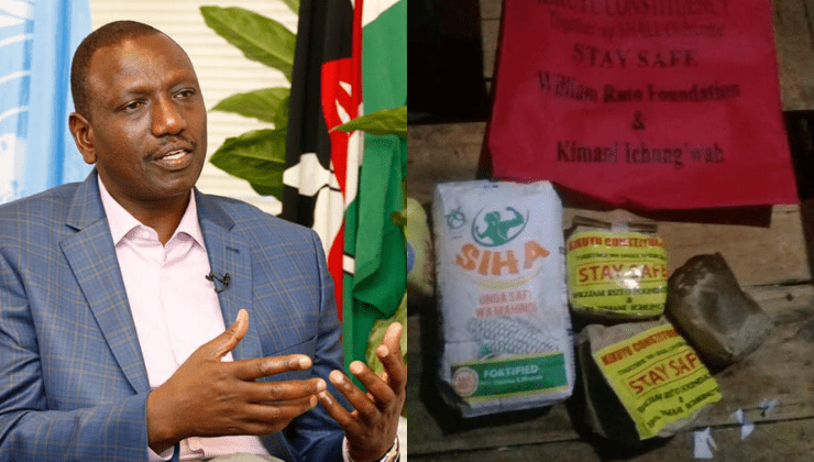 DP Ruto denies distributing poisonous relief food in Kikuyu