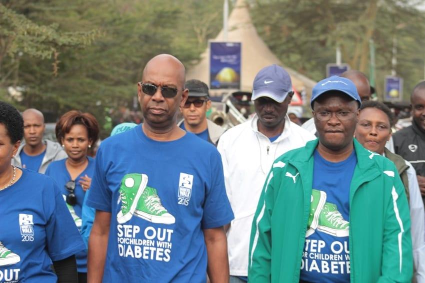 safaricom CEO Bob Collymore and Health CS James Macharia