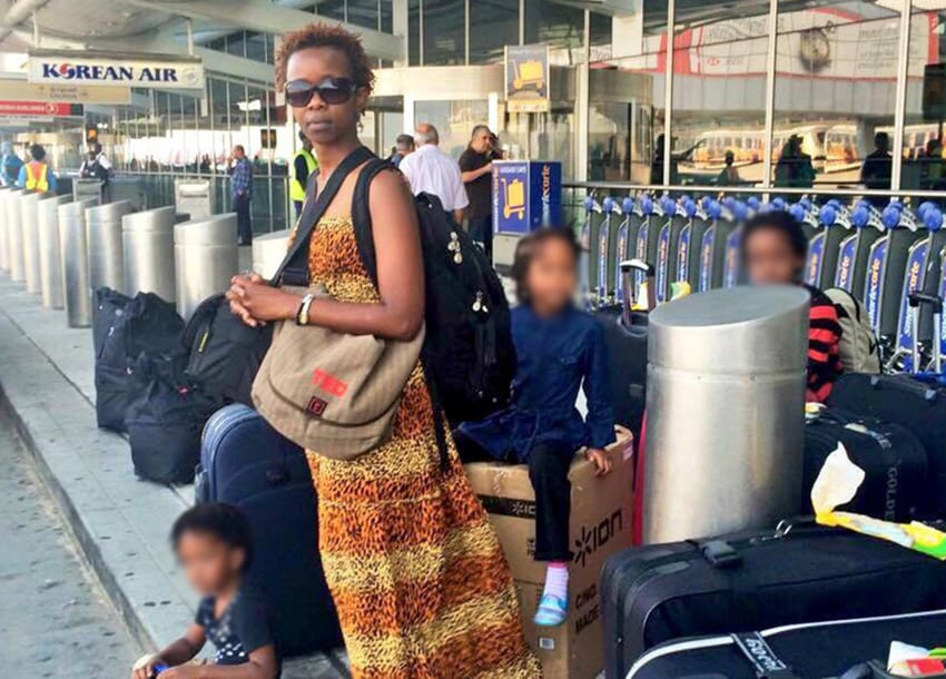 Kenyan activist, family spends night in French Airport benches