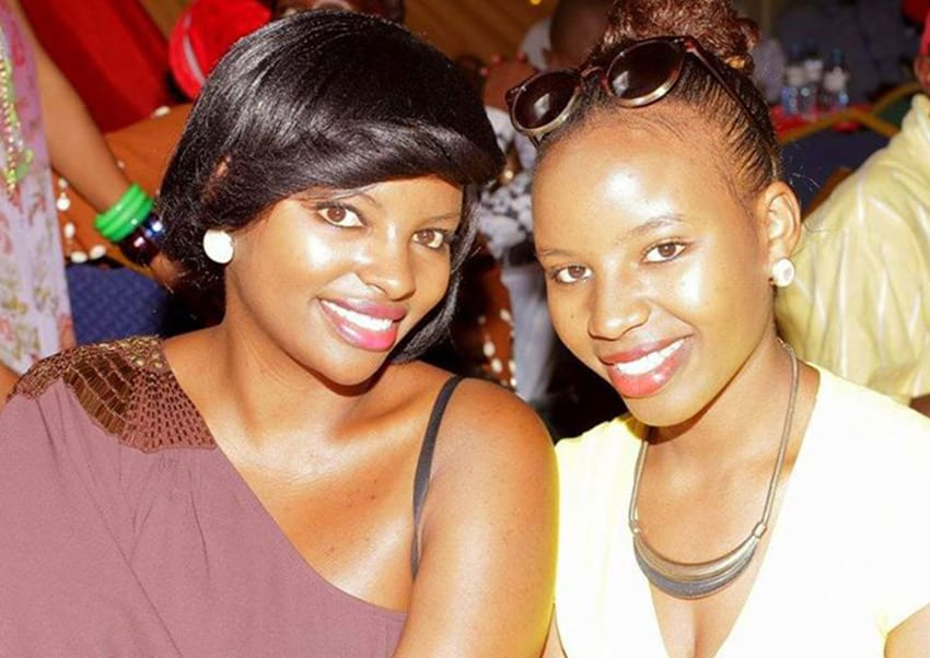 Muthoni with her sister PHOTO/PAULINE MUTHONI