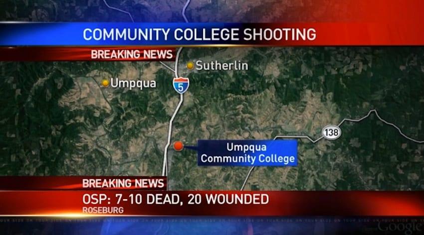 Ten dead as gunman opens fire at a Oregon community college