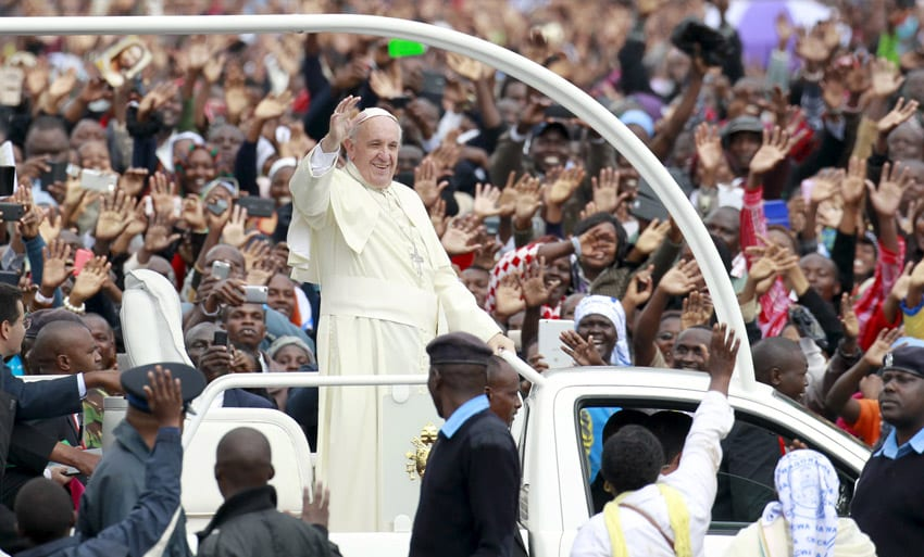 Don't serve God with the intention of getting rich, Pope to Christians