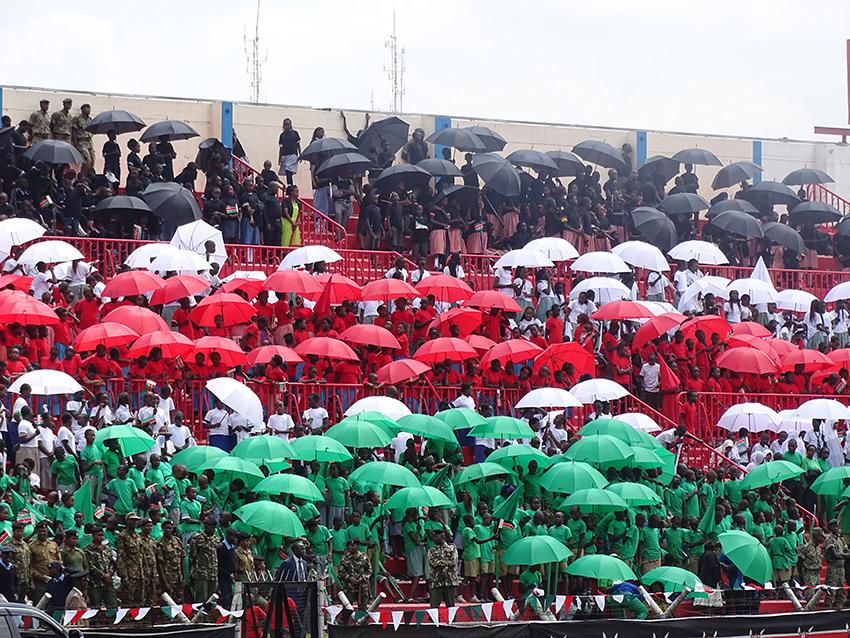 Of umbrellas under the scorching sun; everything Kenyan though PHOTO/CITIZEN DIGITAL