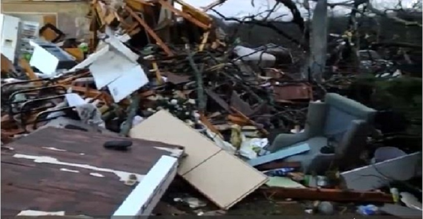 Property destroyed after wind blows off classroom roofs