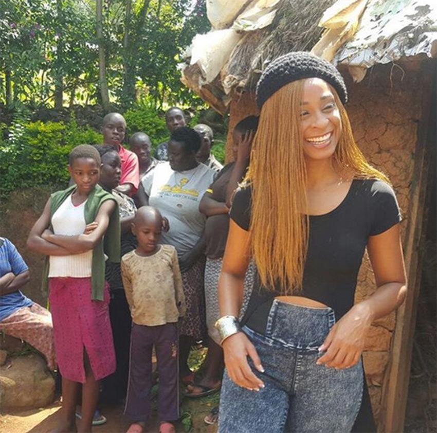 Alaine spent the whole Saturday in Kakamega shooting 'Wafula' video PHOTO/INSTAGRAM