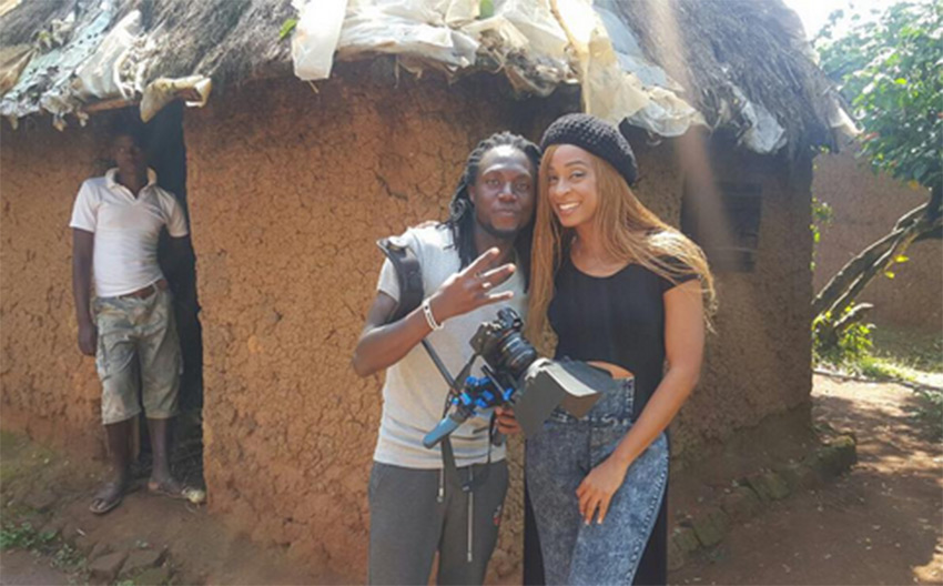 Alaine and producer Young Wallace pose for a photo PHOTO/INSTAGRAM