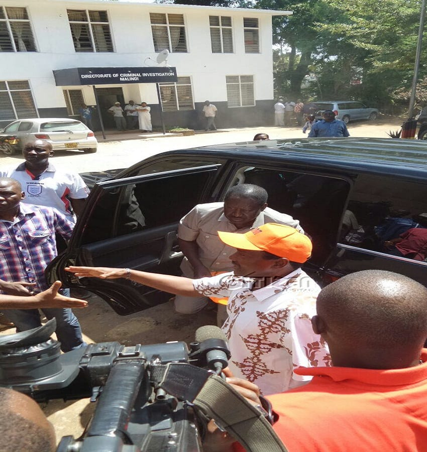 Cord leaders at the police station