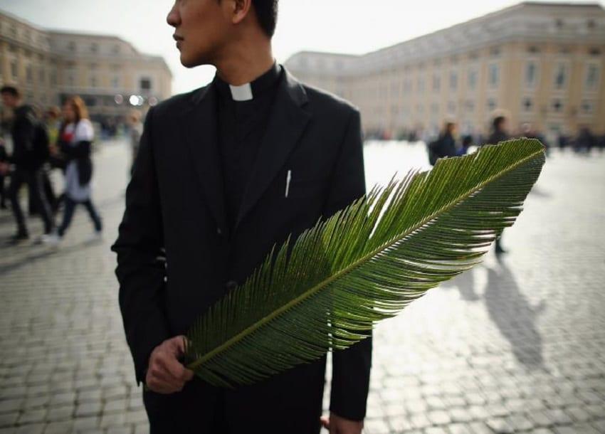 Catholic faithful mark Palm Sunday