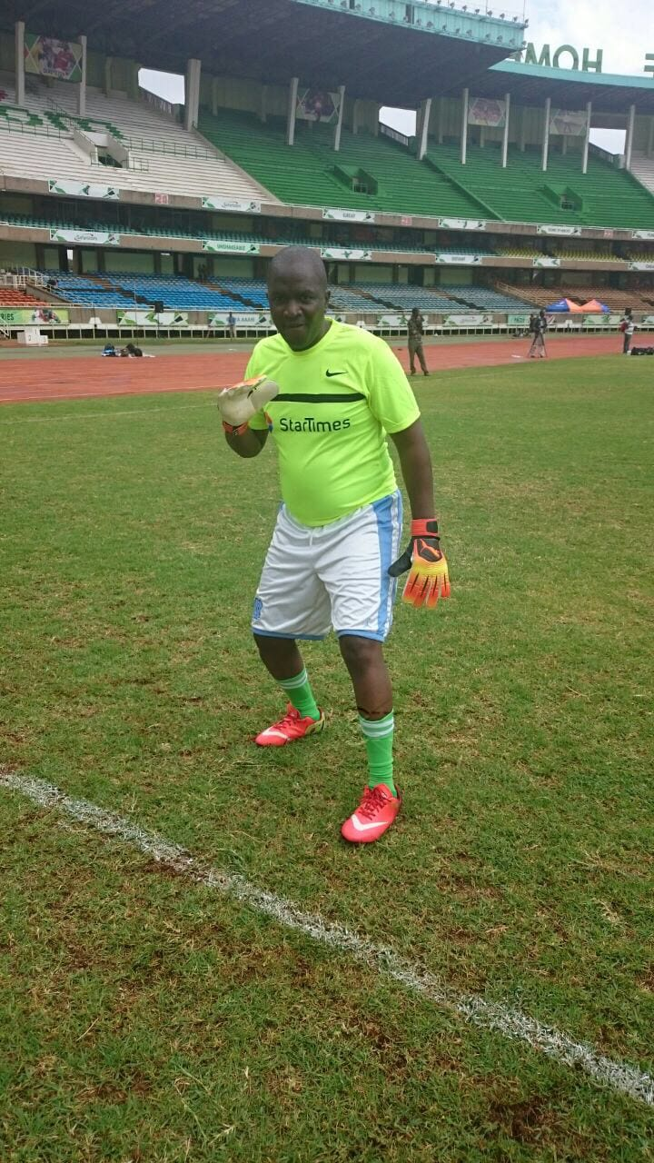 Keeper Milton 'Jaka Black' Ochieng before the first game against Star Times. PHOTO/Courtesy