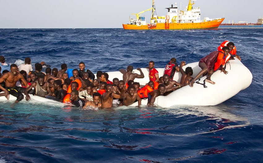 6,500 migrants saved off Libyan coast