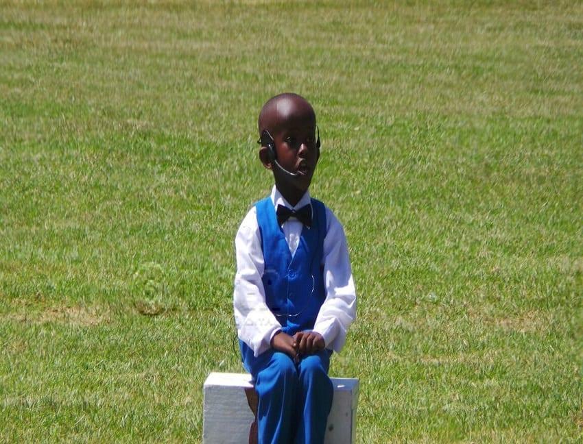Five year old boy performs for President Kenyatta and Deputy President Ruto/ PHOTO Benjamin Wafula