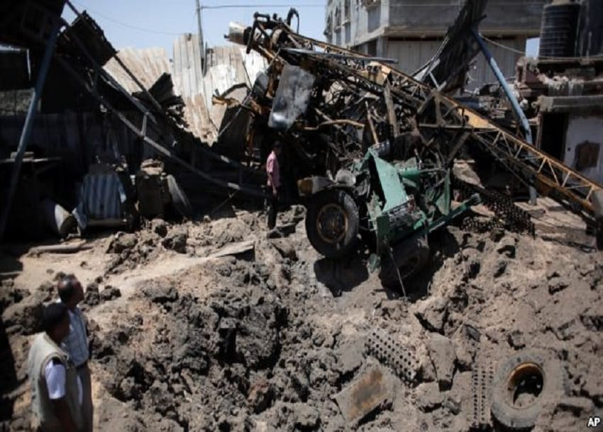 Israeli airstrikes hit Hamas sites in Gaza