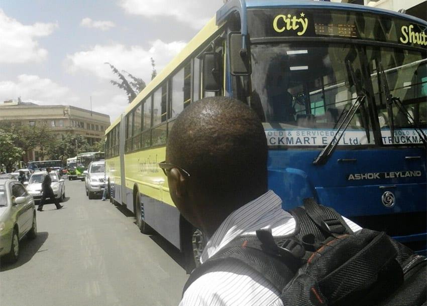 PHOTOS: Long commuter bus baffles Nairobi residents