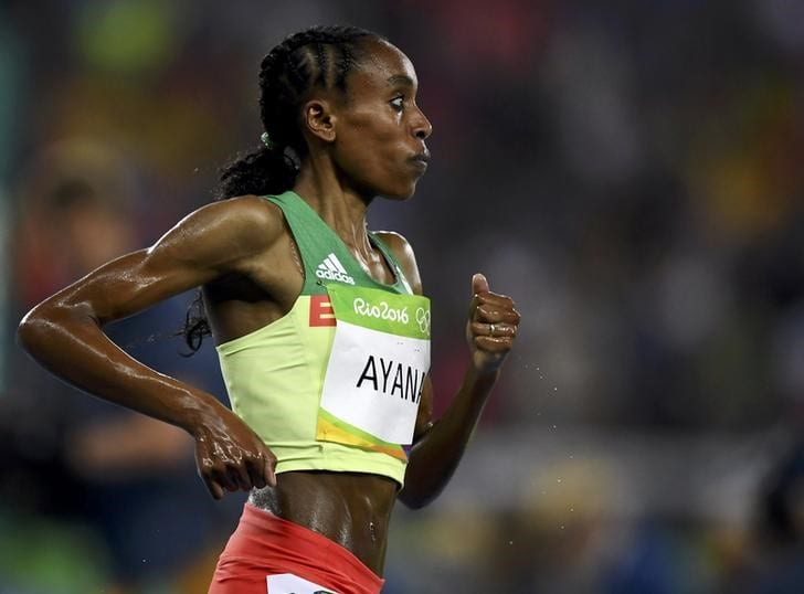 Ayana's stunning 10,000m record ranked fifth-best performance