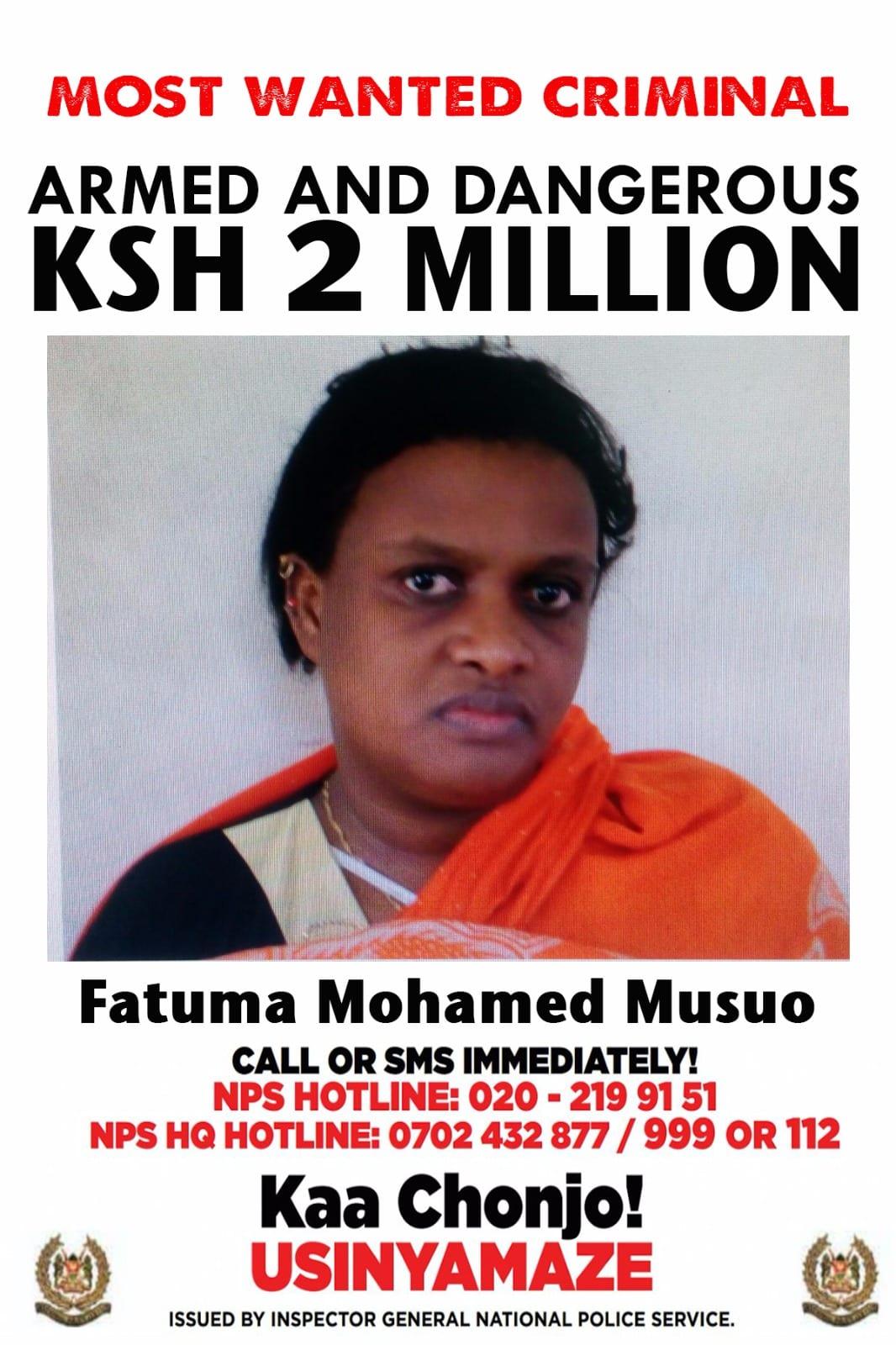 Ksh 2M bounty for slain terror suspect widow