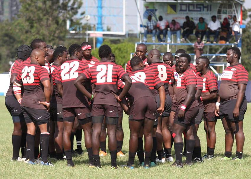 Impala Saracens RFC team before their Kenya Cup league match held at Impala Club in Nairobi, Kenya on February 20, 2016. Impala Saracens won the Floodlit title on Saturday, October 15, 2016. Photo/ Oliver Ananda/www.sportpicha.com