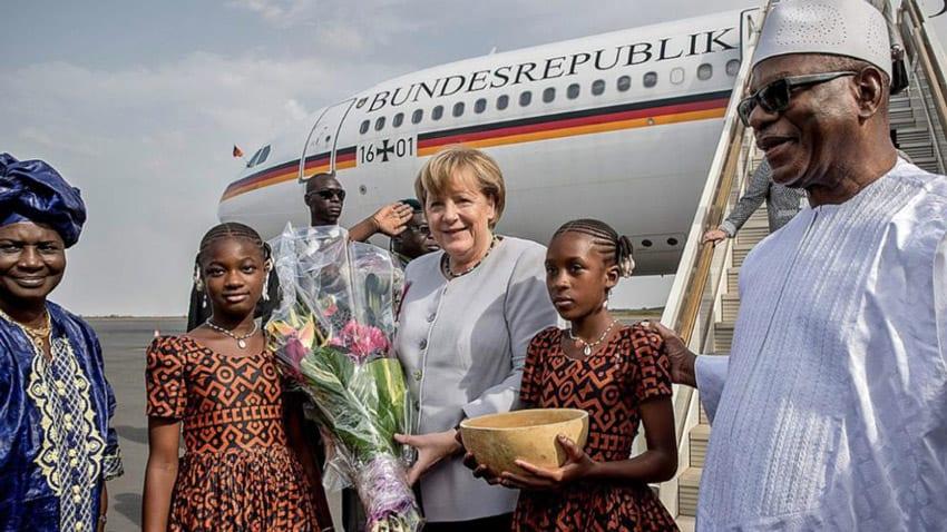 German's Angela Merkel lands in Mali seeking to stem migration
