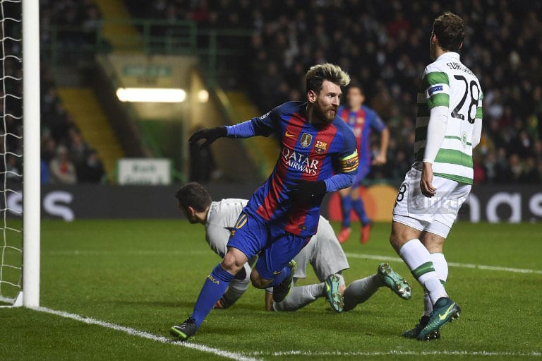 Messi fires Barca to last 16, top of group