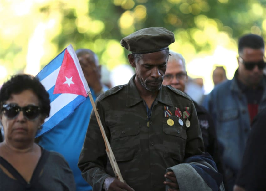 Leftist allies fly in to pay tribute to Cuba's Castro at mass rally