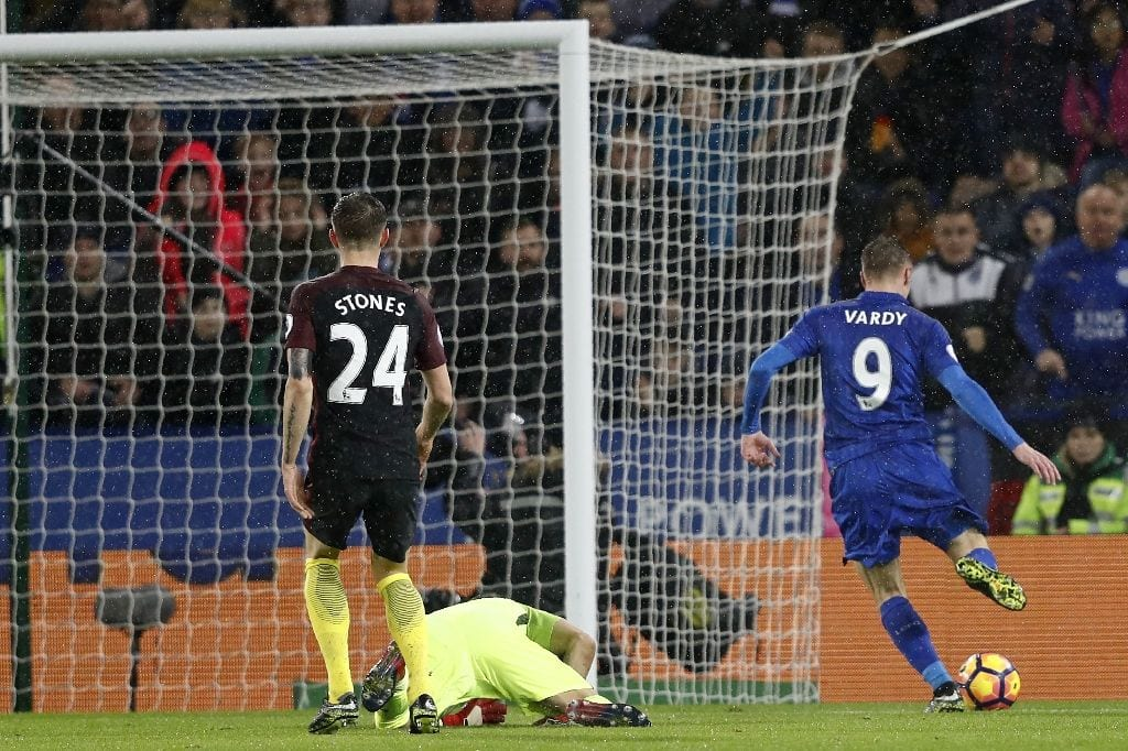 Vardy treble blasts Guardiola's sorry Man City
