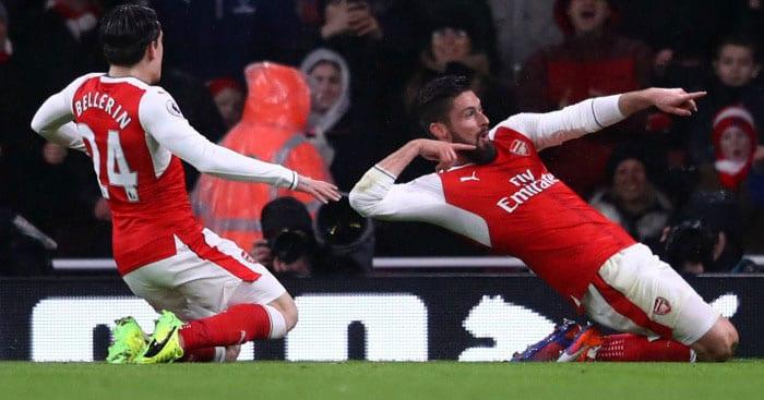 Giroud 'Scorpion' stunner fires Arsenal past Palace