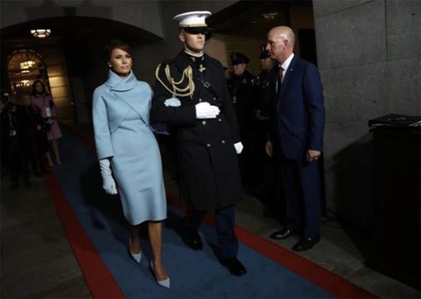 Melania Trump channels Jackie Kennedy but Conway grabs fashion headlines