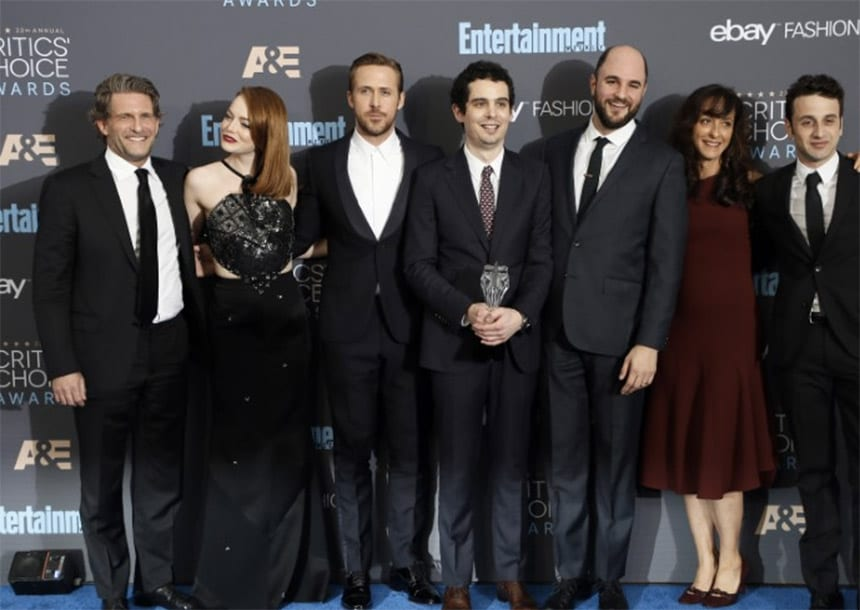 Hollywood producers name 'La La Land' the year's best film
