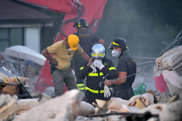 Italy emergency workers continue to search for possible survivors