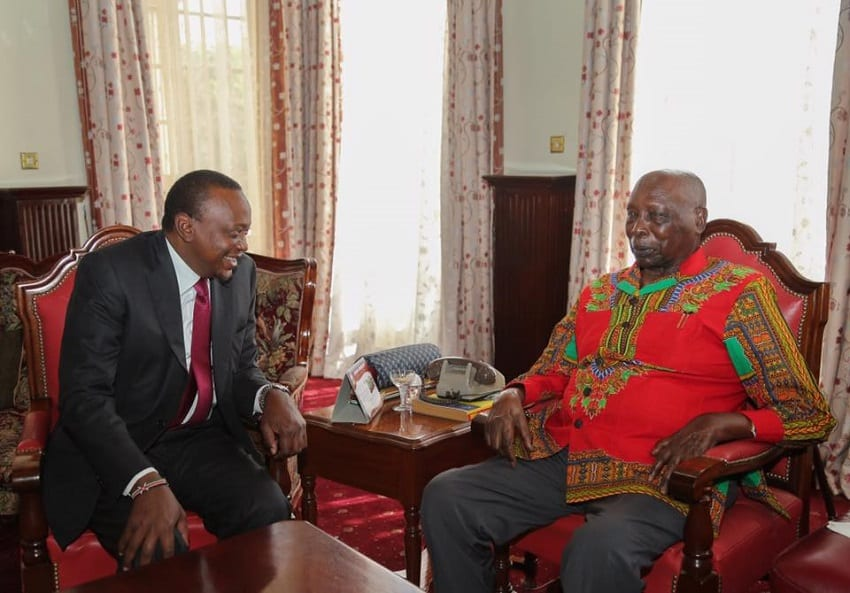 President Uhuru hold talks with Moi at his home