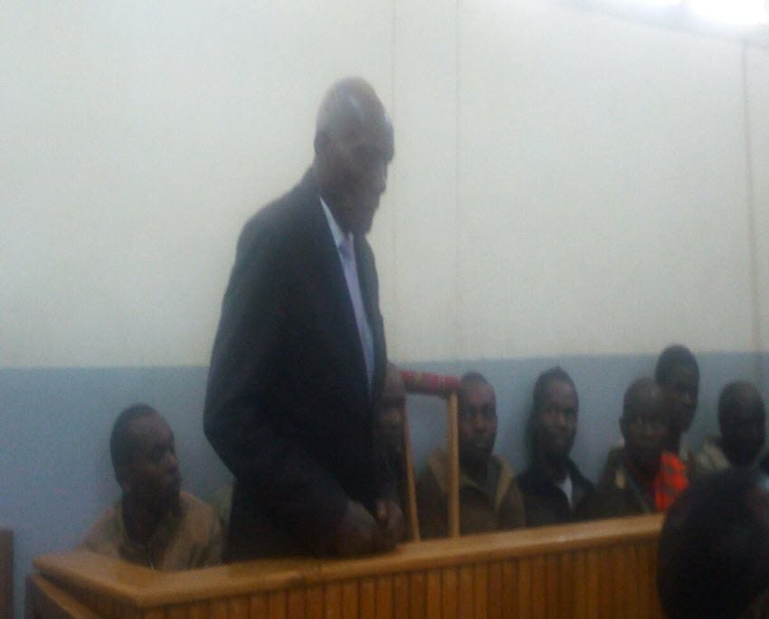 Jackson Kibor in the dock for threatening to kill his son