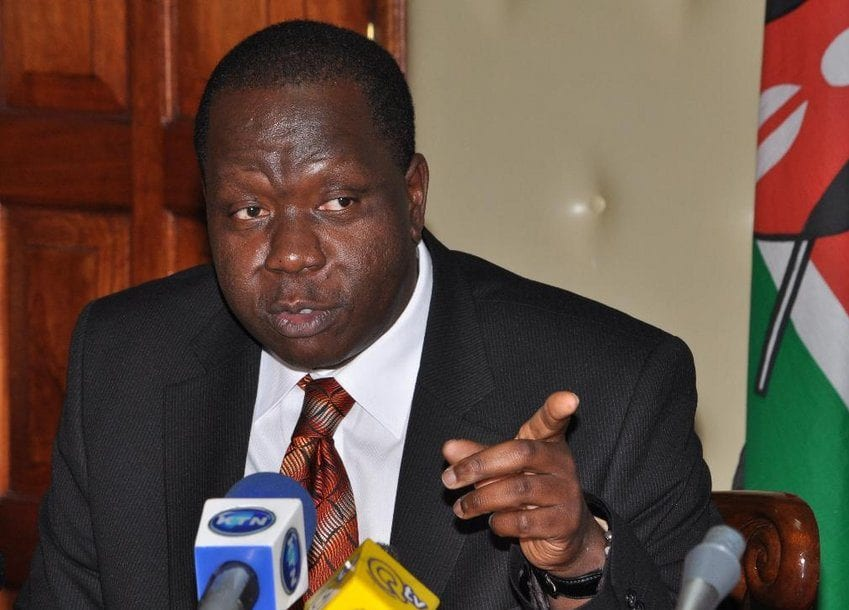 Matiang'i, NASA headed for a clash as CS says no to adopt a polling station