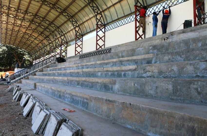 Part of the Kinoru Stadium as pictured ahead of the match between Tusker FC and AFC Leopards on Sunday, May 28 2017. (PHOTO/Martin Mwenda)