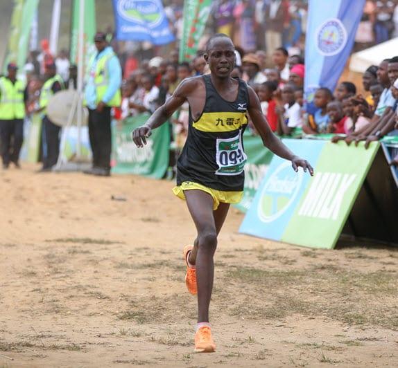 Joseph Koech, Safaricom athletics series 2017 Madoka half marathon 1st runners up approaches the finishing line Ngerenyi grounds Wundanyi Taita Taveta County. The kericho based athlete clocked 1.04.15.14 ahead of Shadrack Kiplagat. Isaac Kipkoech won the race in 1.04.10.28