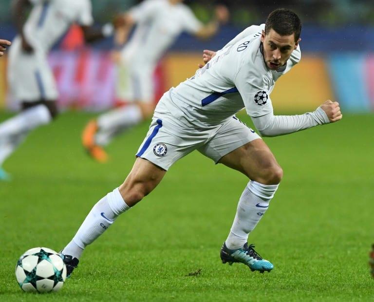Hazard, Willian shine as Chelsea cruise into last 16