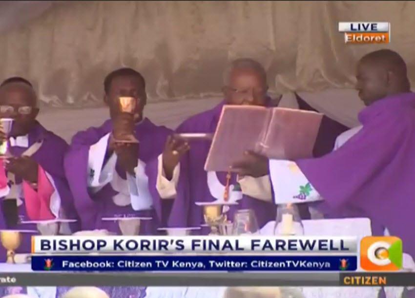 Bishop Korir laid to rest in Eldoret church