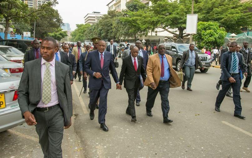 President Kenyatta causes stir as he walks Nairobi streets