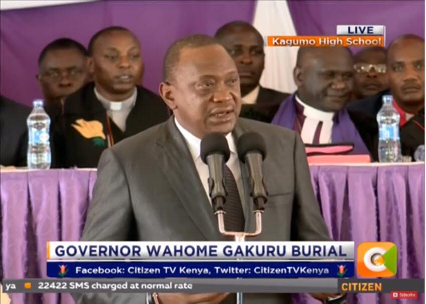 Kenyatta warns NASA against intimidation, asks opposition to respect law