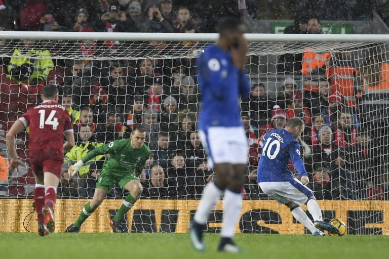 Rooney gives Everton a share of derby spoils