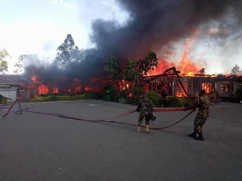 KDF canteen burnt down in Nairobi