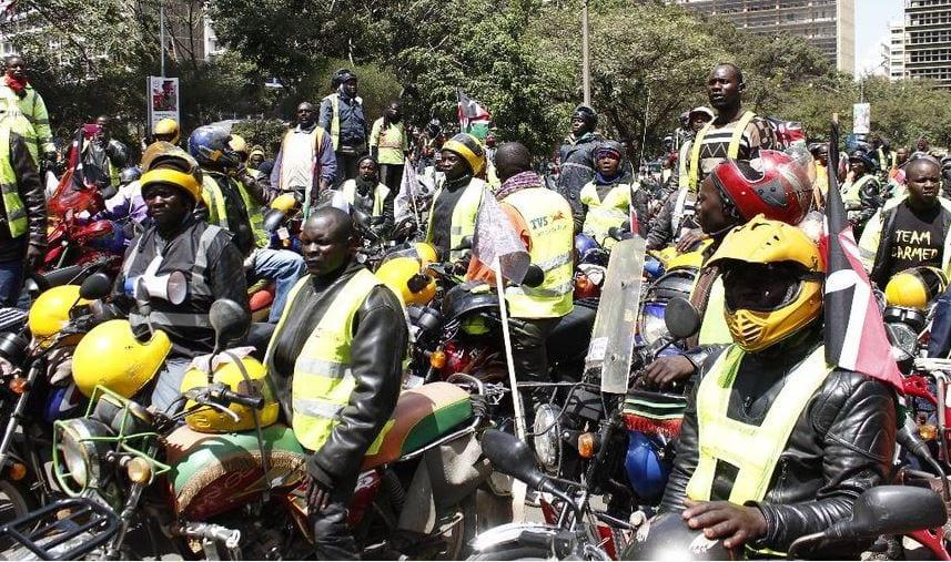 Business as usual as boda boda riders defy Nairobi CBD ban