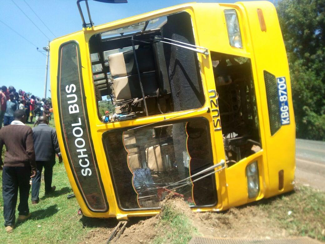 11 students injured in school bus horror crash