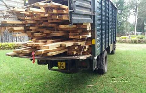 Kenya Prisons lorries seized by police for carrying timber