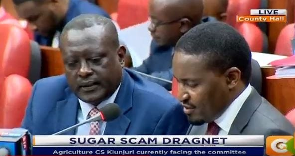 There was an excess of imported industrial sugar admits Kiunjuri