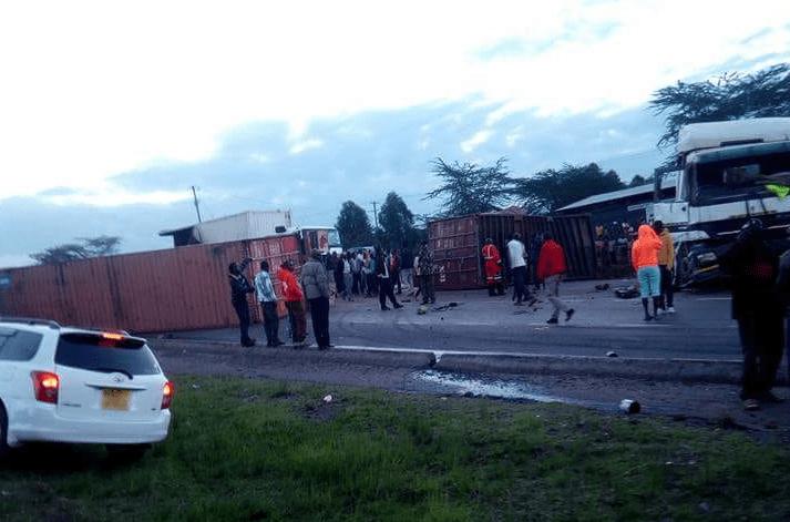 Two killed after three trucks collide at Migaa area near Salgaa black spot