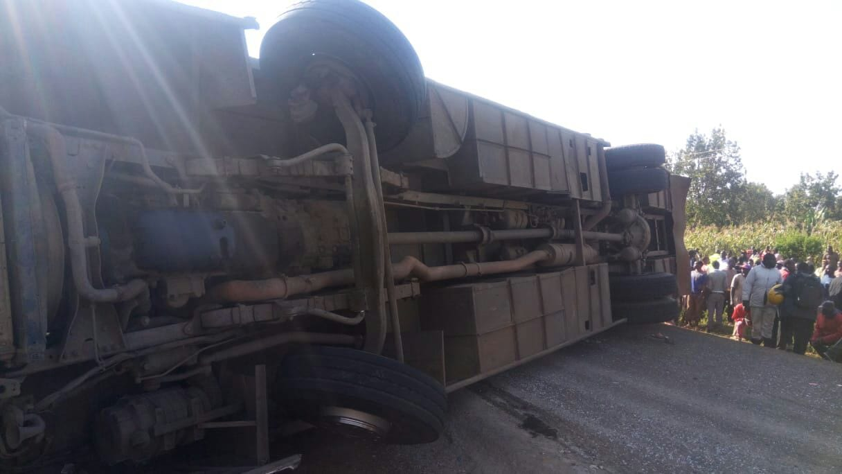 One dead, 43 injured after bus overturns in Siaya