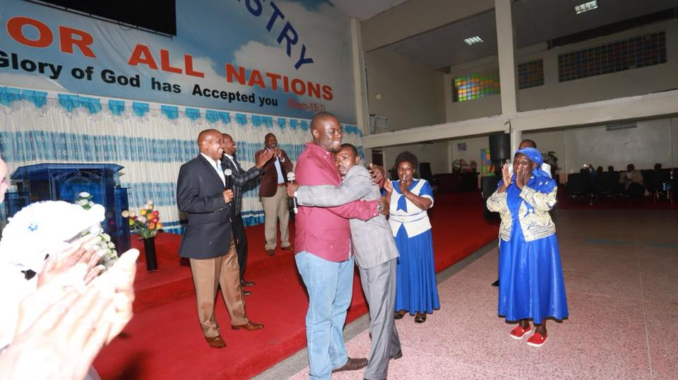 An emotional Willam Mwaura on his big day.
