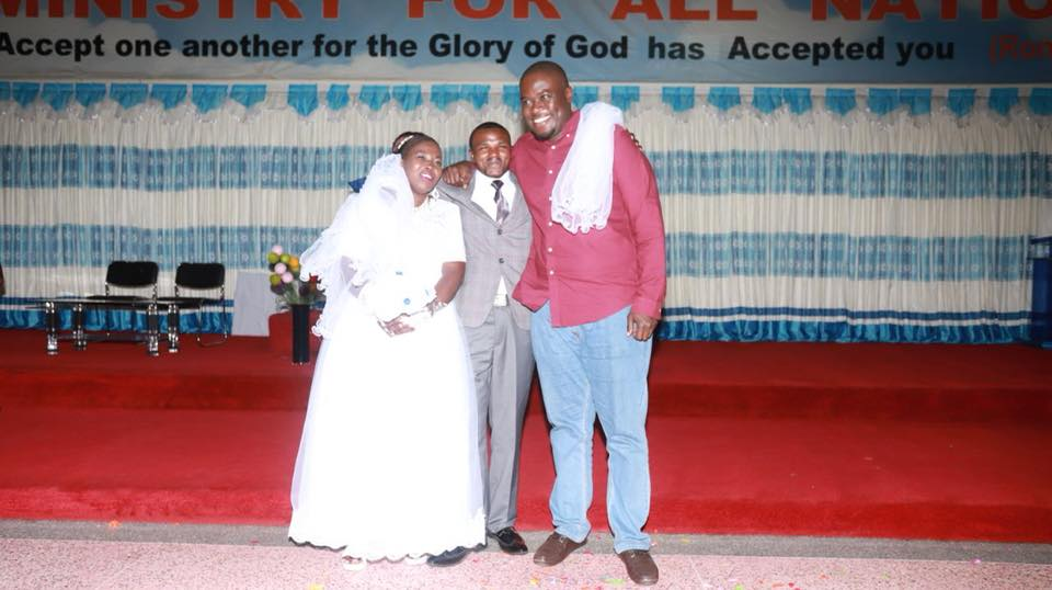 Sakaja and the newly married couple.