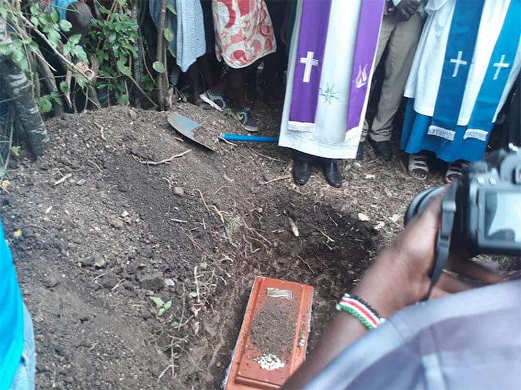 Sharon Otieno's baby buried after six-hour delay