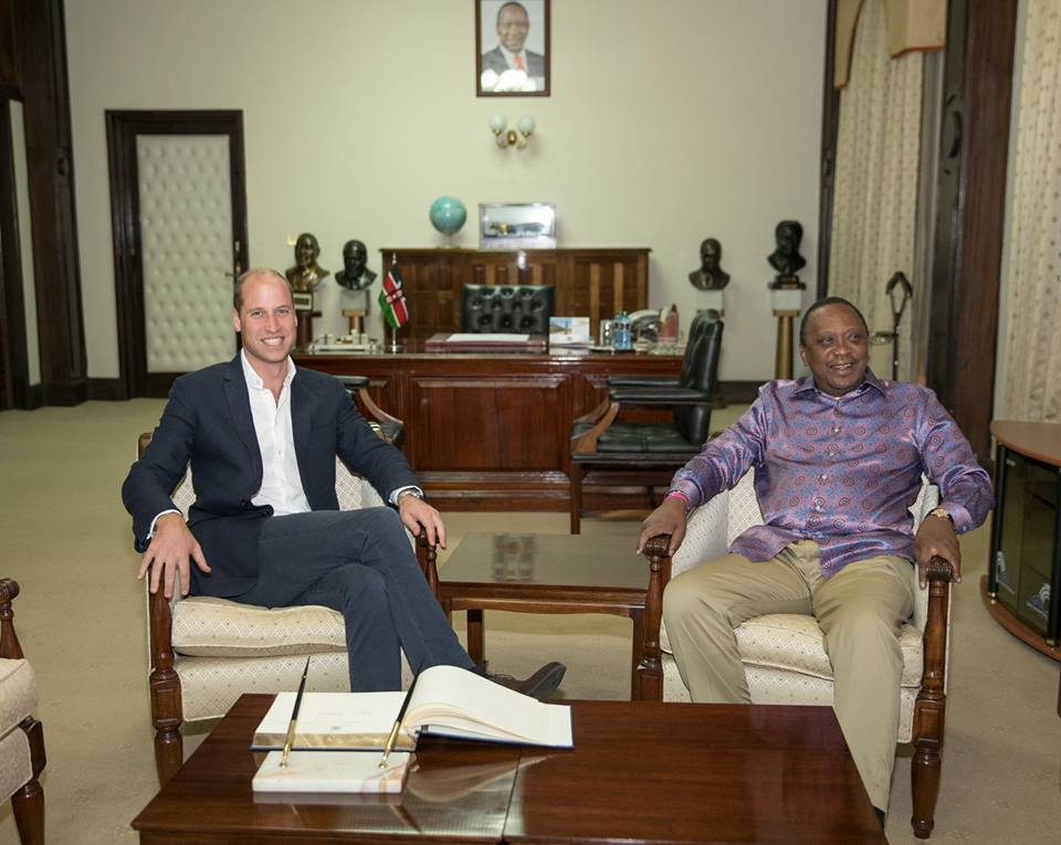 President Kenyatta hosts Prince William at State House